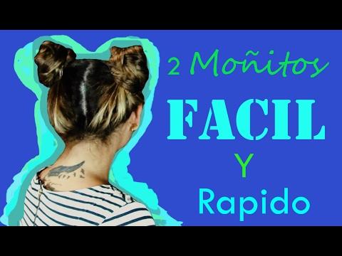 Peinado De Dos Monitos Rapido Facil Nilivon Gonzalez Youtube