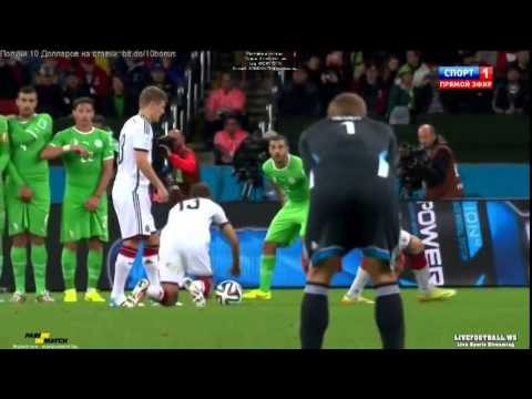 Germany vs Algeria 2-1 World Cup 2014 | Goals and Highlights-Round of 16