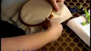 Вышивка крестом. Обучение. Урок №3. Заправка канвы в пялцы.