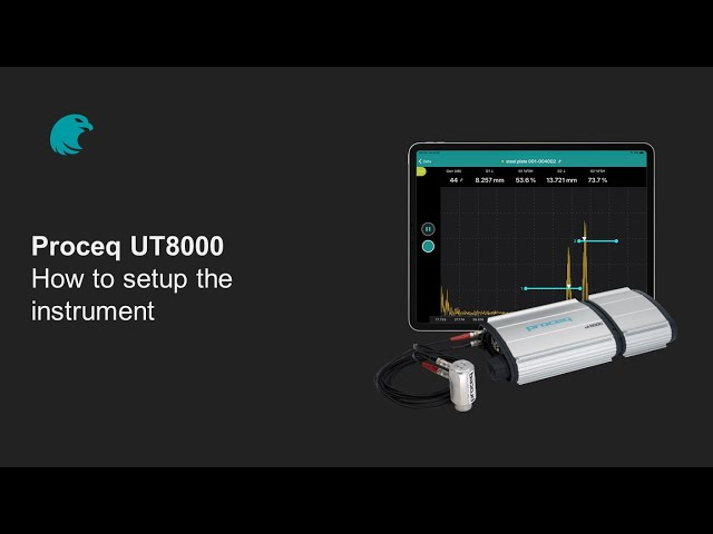 How to setup the instrument | Proceq UT8000