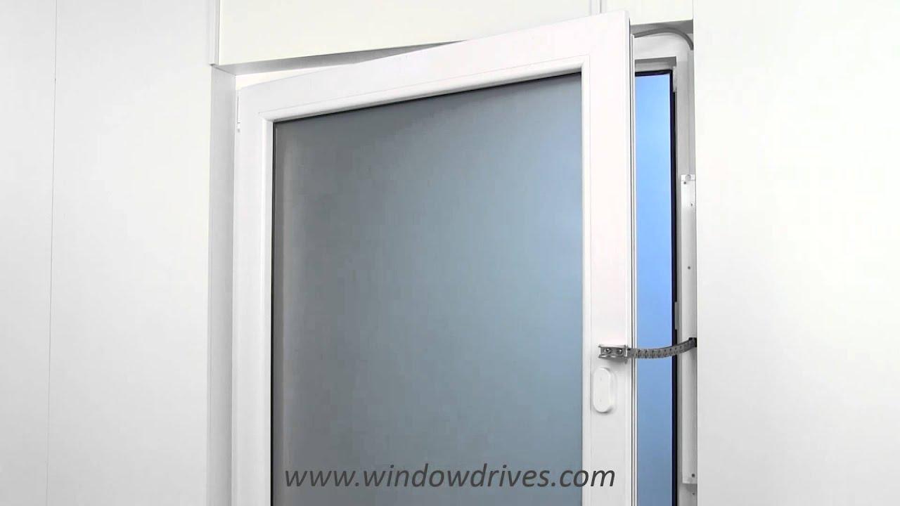drehfenster elektrisch ffnen mit kettenantrieb ks2 youtube. Black Bedroom Furniture Sets. Home Design Ideas