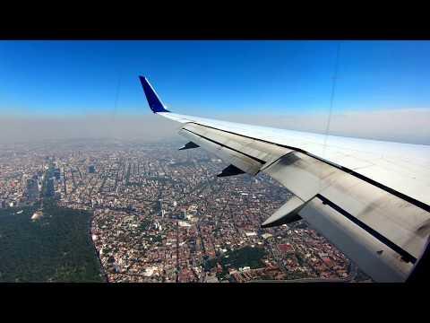 Landing at Mexico City's Benito Juarez International Airport (MEX/MMMX) 2017-11