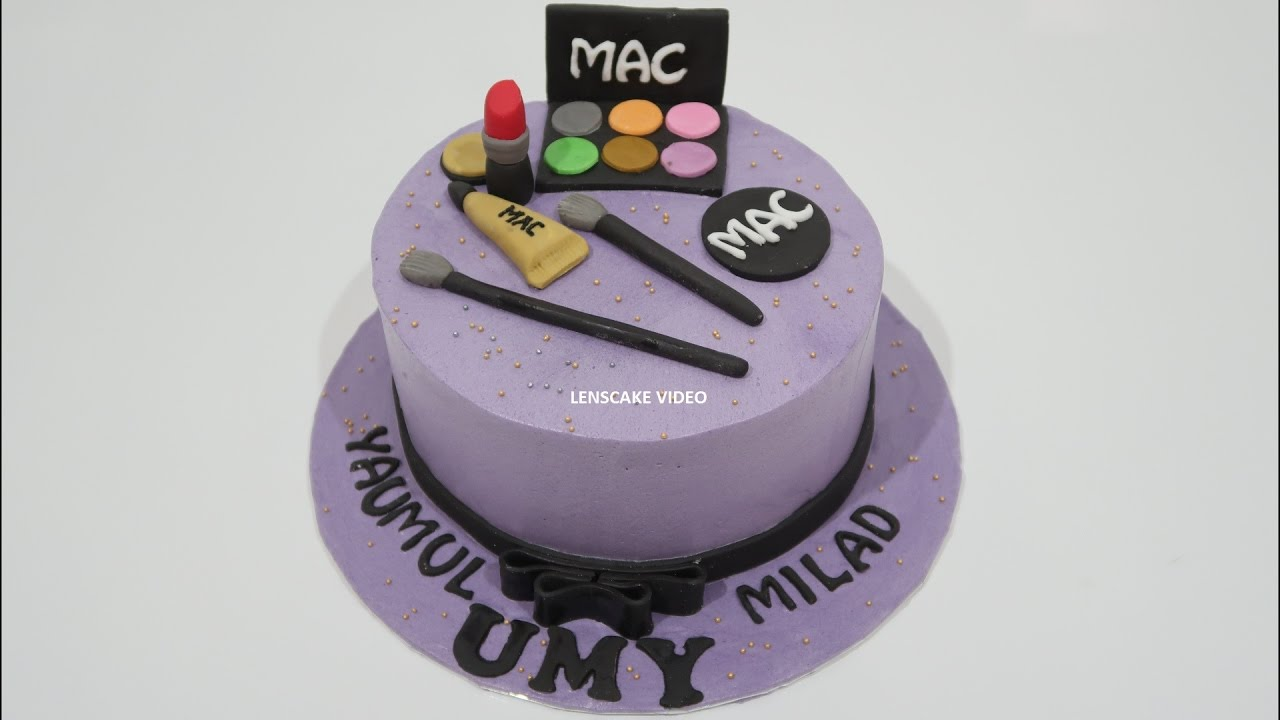 HOW TO DECORATE BIRTHDAY CAKE MAKEUP PURPLE
