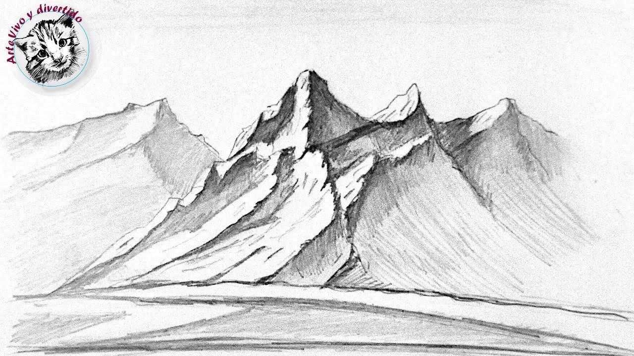 Como dibujar desde Cero #2 Como Dibujar Montañas Realistas Paso a Paso y muy Facil
