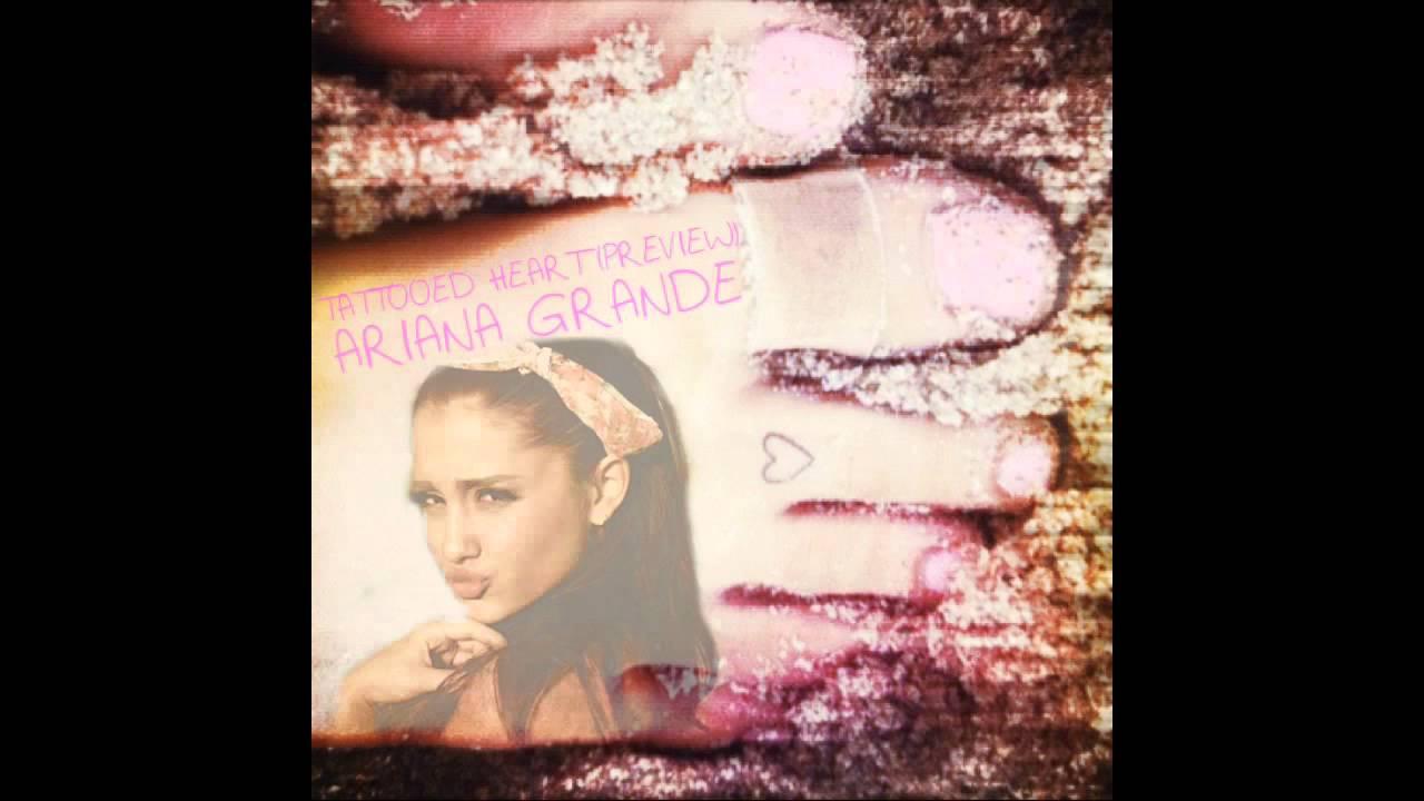 Ariana grande tattooed heart preview youtube for Tattooed heart ariana grande