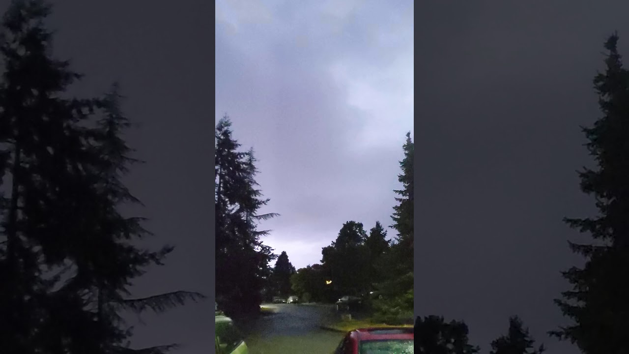 So I was filming a lightning storm...