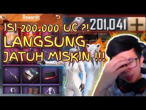 ISI 200.000 UC ?! LANGSUNG JATUH MISKIN !!! - PUBG MOBILE INDONESIA