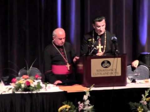 Cardinal Batrak bcahara Rai Ra3i Cleveland Ohio Speak to St. Maron Peace Hotel 10-10-11