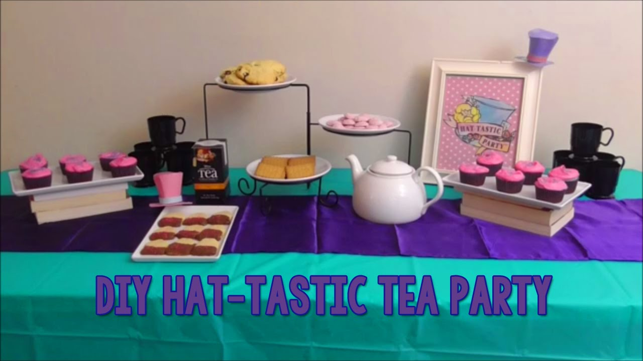 Diy Ever After High Inspired Hat Tastic Tea Party Birthday Idea