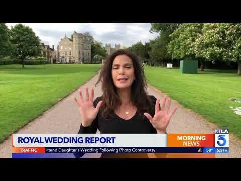 Royal Correspondant Teri Hatcher with the Royal Wedding Report