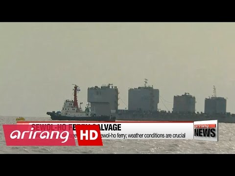 Korea attempts salvage of Sewol-ho ferry