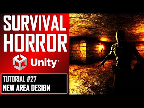 How To Make A Survival Horror Game - Unity Tutorial 027 - DESIGN NEW PLAYABLE AREA thumbnail