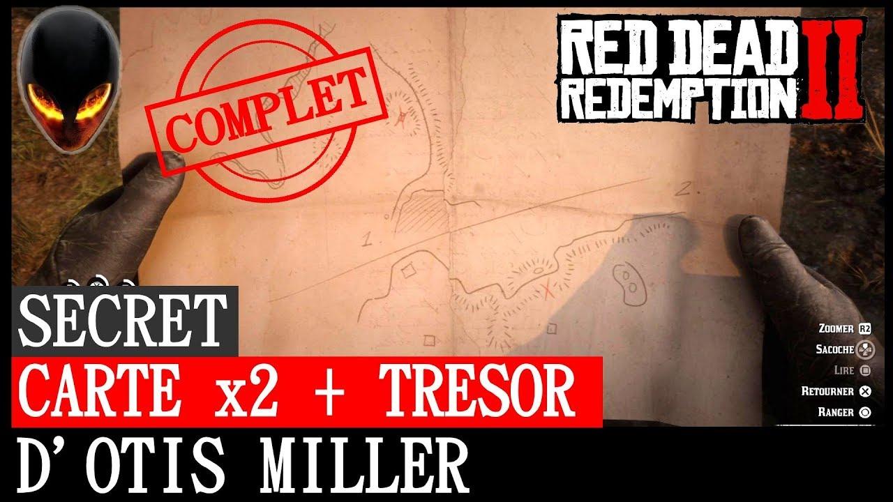Carte Au Tresor Otis Miller.Red Dead Redemption Secret Carte Au Tresor Dechiree En 2 Partie