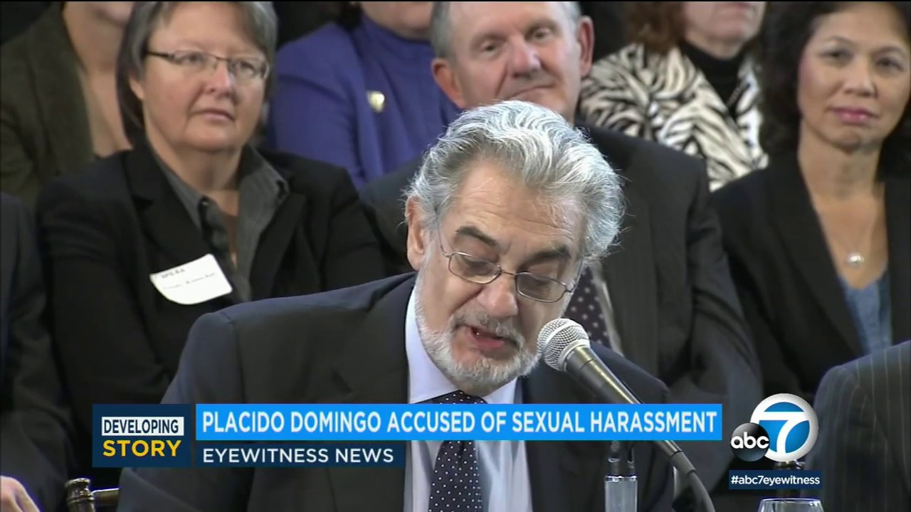 White Male Opera singer Placido Domingo accused of sexual harassment by 9 women
