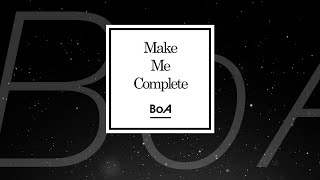 BoA / 「Make Me Complete」試聴用映像(歌詞/和訳付)