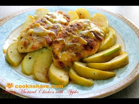 Seared Chicken With Honey Mustard And Apple