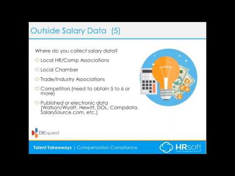 5 Essentials for a Comp Program – Outside Salary Data