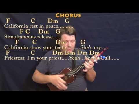 Dani California (RHCP) Ukulele Cover Lesson in Am with Chords/Lyrics