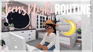 Teen's School Night Routine♡ | Roblox Bloxburg | iiarabellaa