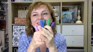 Восковые мелки Gelatos и гелевая пластина Gelli в микс медиа декоре: видео урок Натальи Жуковой
