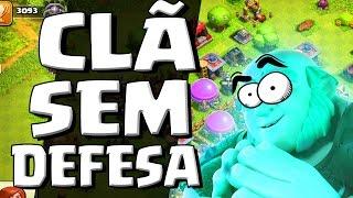 CLÃ ONDE NINGUÉM TEM DEFESA no CLASH OF CLANS - O CLÃ MAIS ESTRANHO