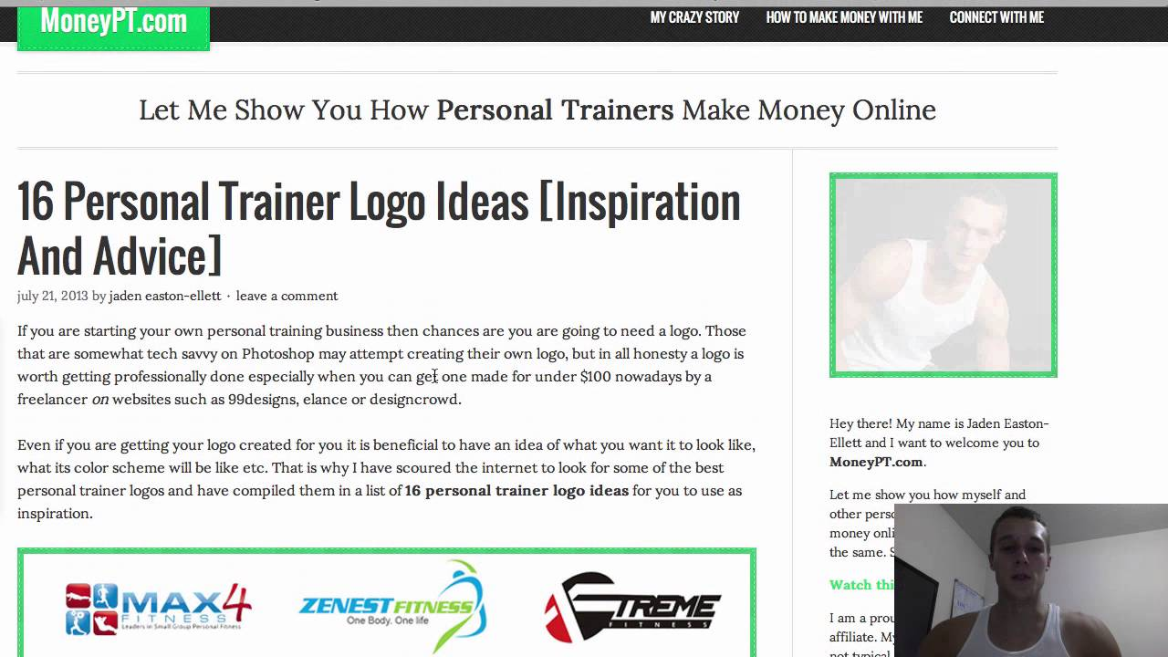 personal trainer logo ideas youtube