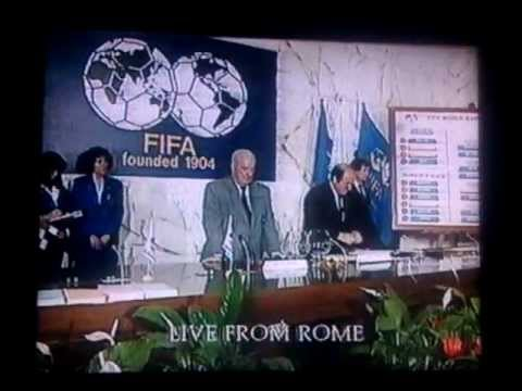 World Cup Lots Draw 1990 Youtube