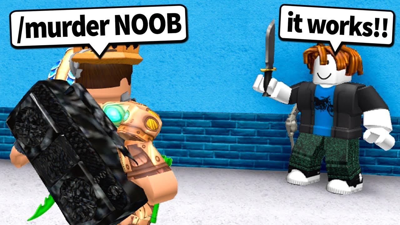 Murder New Noob Knifebc Roblox I Gave Every Noob Murderer In Murder Mystery 2 Roblox Mm2 的youtube视频效果分析报告 Noxinfluencer