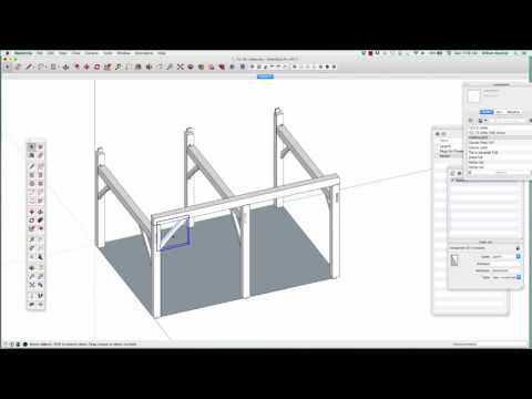 Timber Frame modeling with SketchUp