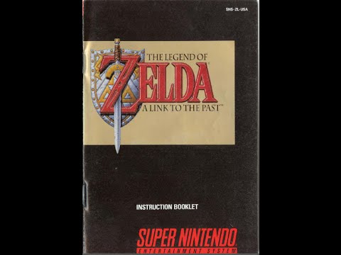 The Legend Of Zelda A Link To The Past Game Manual Snes
