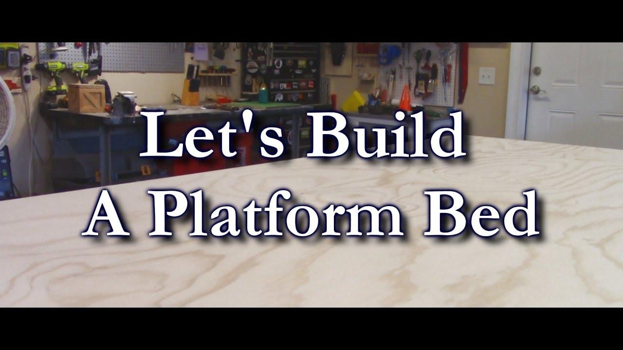 Make A Plywood Platform Bed