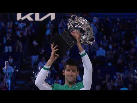Novak Djokovic Championship Celebration & Trophy Ceremony LIVE