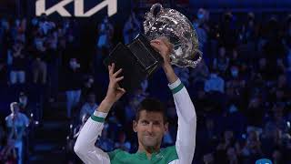 Novak Djokovic Championship Celebration & Trophy Ceremony LIVE