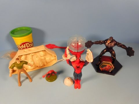 2007 SPIDER-MAN 3 SET OF 4 JOLLIBEE KID'S MEAL MOVIE TOY'S VIDEO REVIEW
