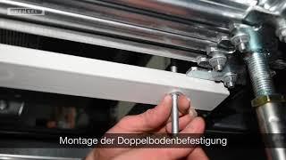 Niederspannungs-Schaltanlagen - Montage der Doppelbodenbefestigung