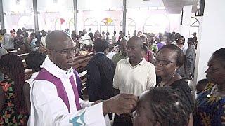 Mercredi des cendres 2017. Eglise St Bernard Attoban. Abidjan. C I