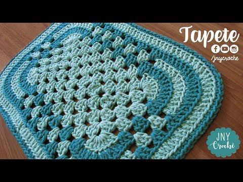 Tapete de crochê simples para banheiro | passo a passo - JNY Crochê