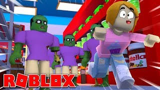 Roblox | Escape The Zombies At The Grocery Store Obby!