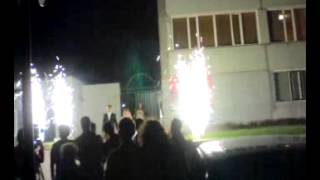 Тяжпром.Столовая.Фейерверк на свадьбу, организованный компанией Волшебный мир праздника и Salutpnz