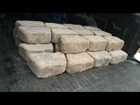 Harbor freight cargo unloader easy concrete blocks unloading from truck