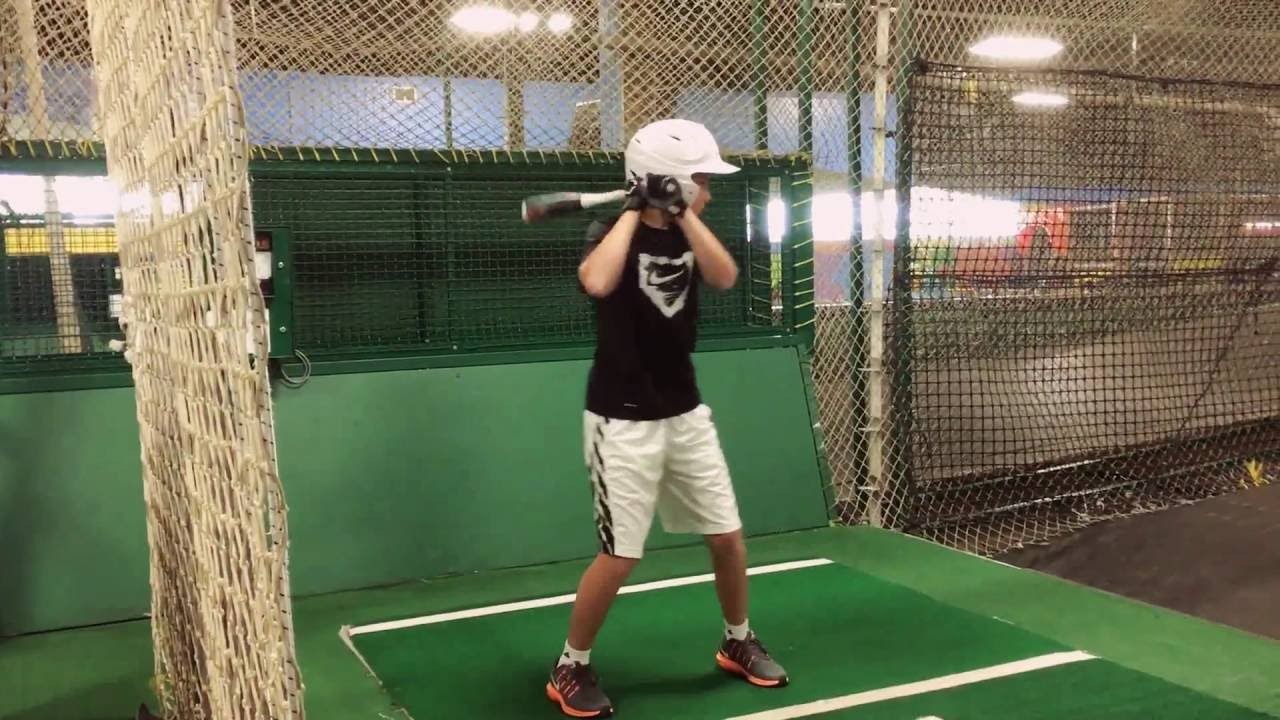 me hitting at the grand slam batting cages youtube