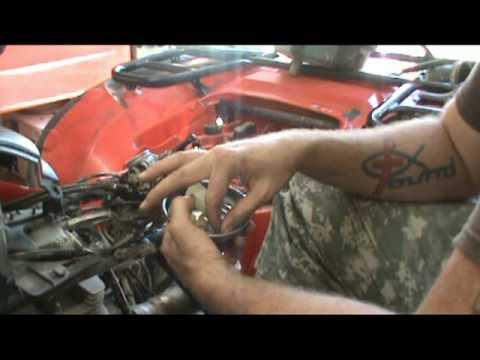 Honda Rancher Atv Wiring Diagram Honda Foreman Sticky Float Youtube