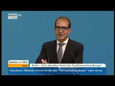 Koalitionsverhandlungen: PK mit Nahles, Gröhe & Dobrindt am 13.11.2013