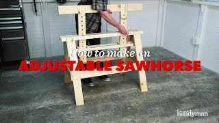 How to Build an Adjustable Sawhorse | Saturday Morning Workshop