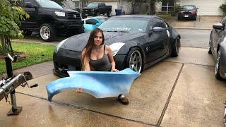 Installing crown carbon crafting overfenders!!