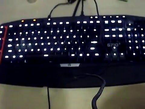 Logitech G710+ blinking in Ubuntu