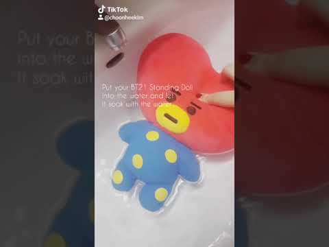 "[TUTORIAL] How to ""Bath"" your BT21 Standing Doll - Mini Tutorial by niqhtchim"