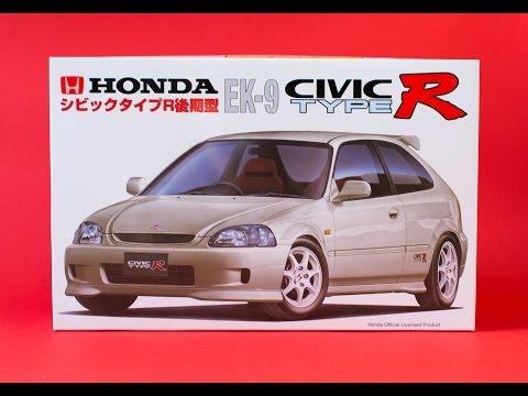 Fujimi 1/24 Honda Civic Type R EK9 Model Kit Unboxing And Review