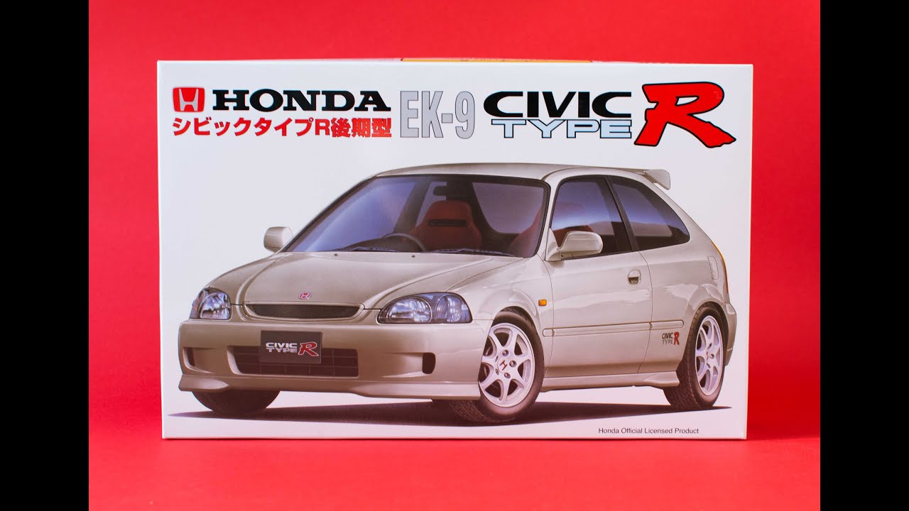 fujimi 1 24 honda civic type r ek9 model kit unboxing and. Black Bedroom Furniture Sets. Home Design Ideas