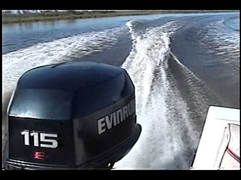 1995 Evinrude 115 hp Outboard on a 1985 Bayliner Capri 1600 (Test 1)
